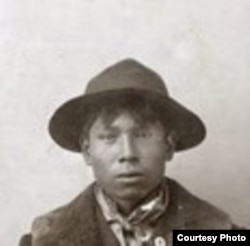 Paul Holytrack was only 19 years old when he was lynched for his suspected involvement in the 1897 murder of a white family in N.Dakota. Detail of larger photo, courtesy: Drapkin Collection.