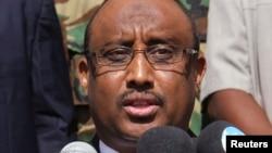 (File) Somalia Puntland President Abdiweli Mohamed Ali in Garowe, Jan. 14, 2014.
