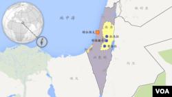 以色列和巴勒斯坦诸城市包括希伯伦