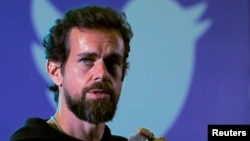 In this file photo, Twitter CEO Jack Dorsey addresses students during a town hall at the Indian Institute of Technology (IIT) in New Delhi, India, November 12, 2018. REUTERS/Anushree Fadnavis