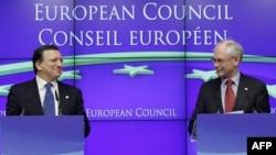Predsednici Evropske komisije i Evropskog saveta Žoze Manuel Barozo i Herman van Rompuj
