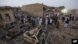 8-avgust kuni Kobulda yuz bergan terror xurujlaridan keyingi manzara
