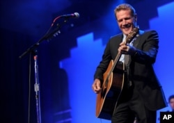 "FILE - Glenn Frey performs at the 12th Annual Starkey Hearing Foundation ""So The World May Hear"" Gala in St. Paul, Minnesota, Aug. 4, 2012."