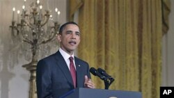 리비아 정책을 설명하는 오바마 대통령