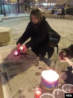 莫斯科活动组织者亚娜。(美国之音白桦拍摄)