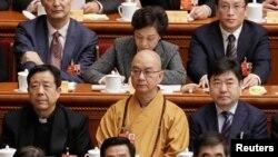 北京龍泉寺方丈、中國佛教協會會長釋學誠。