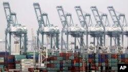 位於洛杉磯長灘港的港口(資料圖片)