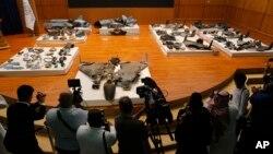 بقایای به جا مانده از تسلیحاتی که در حمله به عربستان سعودی مورد استفاده قرار گرفته است