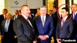 თემურ აბაზოვი პრემიერ კვირიკაშვილთან და პრეზიდენტ ალიევთან ერთად