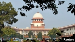 FILE - A view of the Indian Supreme Court building in New Delhi.