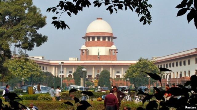 A view of the Indian Supreme Court building in New Delhi, Dec.7, 2010.