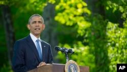 美国总统奥巴马在戴维营开记者会(2015年5月14日)