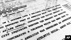 Parte de un archivo de la CIA con fecha 10 de octubre de 1963.