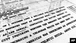 케네디 전 대통령 암살 관련 CIA 문서