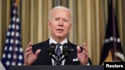 Presidente americano Joe Biden fala à nação, 15 Março 2021