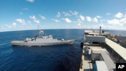تصویری از کشتیهای جنگی ایران در اقیانوس اطلس