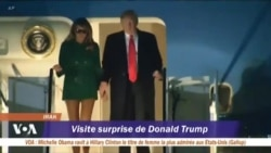 Voyage surprise de Donald Trump en Irak