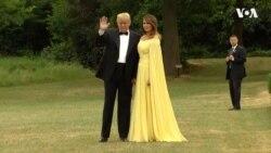 Вишукані Дональд та Меланія Трамп відправилися на прийом до Терези Мей. Відео