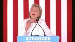 Clinton Talks About Trump and Taxes