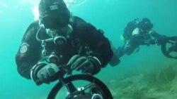 Прво нуркање со подводни скутери во Охрид