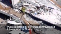 Colapsa puente peatonal en Universidad Internacional de Florida