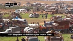 Syrians Flee Villages After IS Leaves Neighboring al-Bab