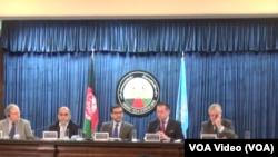 نشست مشترک خبری در کابل