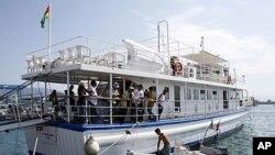 打算从希腊出发前往加沙的船队