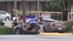 Hiện trường vụ nổ súng ở Houston