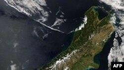 Đảo Nam của New Zealand, hình chụp từ vệ tinh.