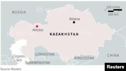 Rasmiy ma'lumotlarga ko'ra, 5-iyun kuni Aktobe shahrida 30 yaqin kishi qurol do'konlariga bostirib kirgan, keyin esa harbiy qismga tegishli qurol- yarog' omboriga hujum uyushtirgan.