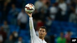 Cristiano Ronaldo lors du match contre Elche, au Stade Santiago Bernabeu, Madrid, 23 septembre 2014