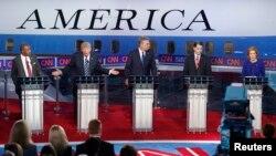 Các ứng cử viên Tổng thống của đảng Cộng hòa trong cuộc tranh luận lần 2 tại Thư viện Tổng thống Ronald Reagan.