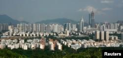 Toàn cảnh thành phố Thâm Quyến ở miền nam Trung Quốc