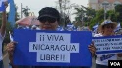 Manifestantes se han pronunciado en Managua en contra del gobierno de Daniel Ortega, en varias oportunidades.