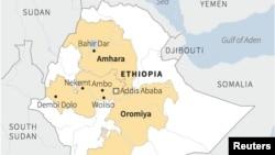 Faayilii - Maappii naannoo Oromiyaa fi Amaaraa agarsiisu