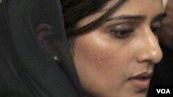 پاکستانی وزیر خارجہ حنا ربانی کھر