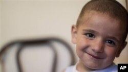 4-х летний Адам, сын черкесских беженцев из Сирии. Нальчик, Россия