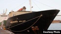 عکس آرشیوی از کشتی باری «ایران شاهد» که بندرعباس را به مقصد یمن ترک کرده بود.