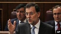 27일 마드리드의 의회에서 발언하는 마리아노 라호이 스페인 총리.