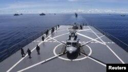 지난 4월 인도네시아 해군이 서수마트라섬 인근에서 해상 훈련을 실시하고 있다. (자료사진)