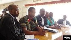 Gen. Frank Rusagara na Col. Tom Byabagamba