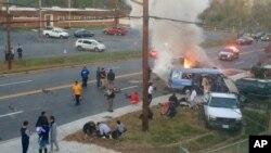 Escena del fatal accidente en Hyattsville, Maryland, el domingo 8 de noviembre.