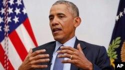 바락 오바마 미국 대통령.