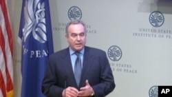 美國國務院東亞助卿坎貝爾(Kurt Campbell)到場致詞