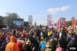 示威抗议活动现场(杨明 拍摄)