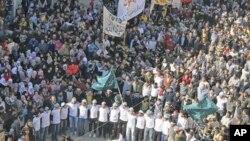 2012年2月3号,示威者继续在大马士革抗议叙利亚总统阿萨德