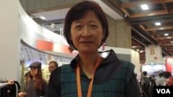 书展基金会执行长黄宝萍(美国之音申华拍摄)