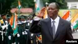 Le président de la Côte d'Ivoire Alassane Ouattara