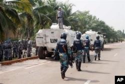 Les forces onusiennes à Abidjan